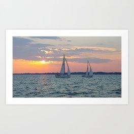 Regatta Sunset Art Print
