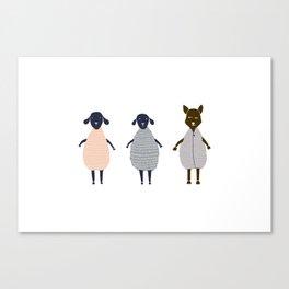 One Sheep, Two Sheep Canvas Print