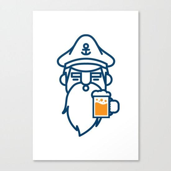 beard & beer  Canvas Print