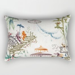 Enchanted Forest Chinoiserie Rectangular Pillow