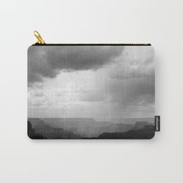 Grand Canyon Landscape with Clouds Black and White Carry-All Pouch