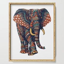 Ornate Elephant v2 (Color Version) Serving Tray