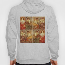 "Alphonse Mucha ""The Gem Series - Ruby, Amethyst, Emerald, Topaz"" Hoody"