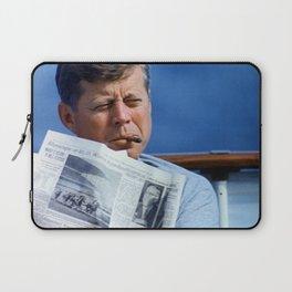 John F Kennedy Smoking Laptop Sleeve