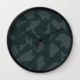 grey pattern // geometric Wall Clock