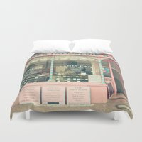 cafe Duvet Covers featuring Sweet Cafe by Cassia Beck