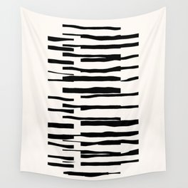 Organic No. 13 Black & Off-White #minimalism #decor #society6 Wall Tapestry