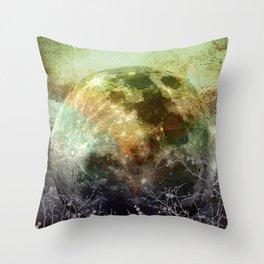 MOON under MAGIC SKY X-1 Throw Pillow