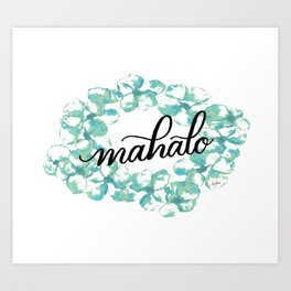 Thank you Mahalo from Hawaii Art Print