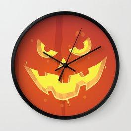 Evil Pumpkin Face (Halloween) Wall Clock