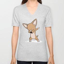 Funny Dabbing Chihuahua Dog Dab Dance Unisex V-Neck