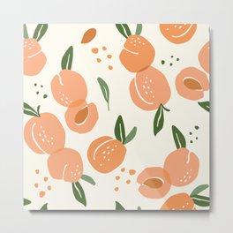 Apricots Pattern Metal Print