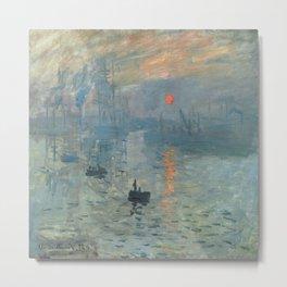 Claude Monet – Impression soleil levant – impression sunrise Metal Print