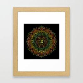 Mandala Ohm Yay Green Framed Art Print