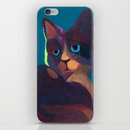 Think Cat iPhone Skin