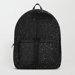 white speckled contrasted bricks - black and white Backpack