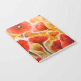 Papaver rhoeas poppy field Notebook