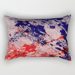 Hot And Cold - Textured Abstract In Blue, Red And Black Rectangular Pillow