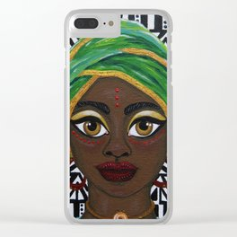 Colours of Africa Clear iPhone Case