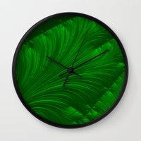 renaissance Wall Clocks featuring Renaissance Green by Charma Rose