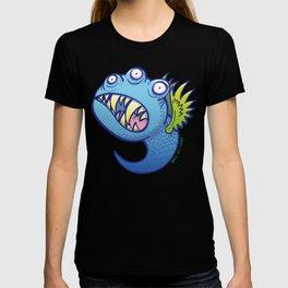 Terrific winged little blue monster T-shirt