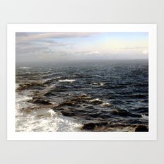 the sea. Art Print