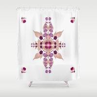 kaleidoscope Shower Curtains featuring Kaleidoscope by Karolis Butenas