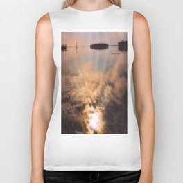 spring reflection Biker Tank