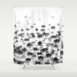 Invaded III B&W Shower Curtain