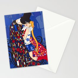 Anime Manga Sailor Moon and Klimt Inspired Moonlight Romance Stationery Cards