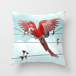 COLORFUL STRANGER Throw Pillow