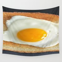 breakfast Wall Tapestries featuring Breakfast by Asano Kitamura