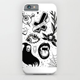 Witchy Flash Page iPhone Case