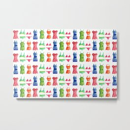 Evolution of the swimsuit pattern Metal Print