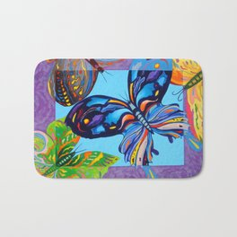 Butteflies are Free to Fly Bath Mat