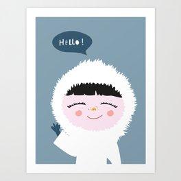 Cute little Eskimo Art Print