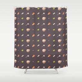 Icing Cookie Pattern_Dark Shower Curtain