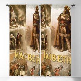 Vintage Macbeth Theatre Poster Blackout Curtain