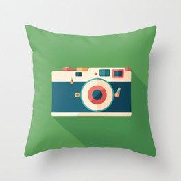 Vintage Film Camera Throw Pillow