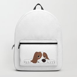 Cute Little Puppy Lying On The Floor Dog Love Backpack