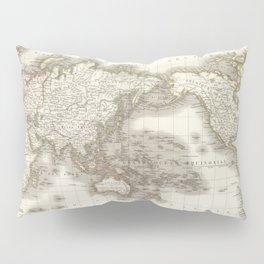 Vintage Map of The World (1832) Pillow Sham