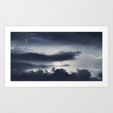 Cloud to Cloud Art Print
