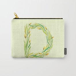Leafy Letter D Carry-All Pouch