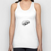 brain Tank Tops featuring Brain by Andreas Derebucha