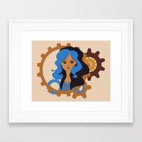 monster high Framed Art Prints featuring Monster High: Robecca Steam by katbirdseat