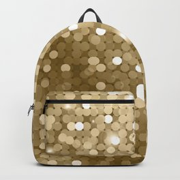 Gold glitter texture Backpack