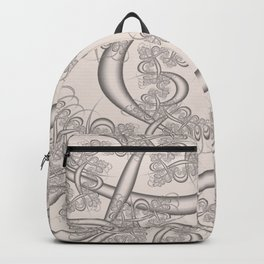 Bridal Blush Fractal Backpack