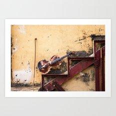 rust-violin Art Print