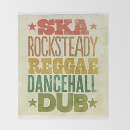 Shades of Reggae Throw Blanket