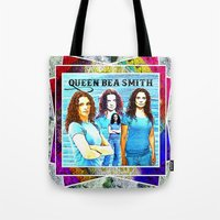 xena Tote Bags featuring Queen Bea Smith by SwanniePhotoArt